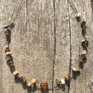 Lia Sophia brown stone necklace